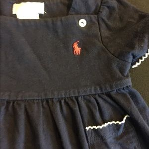 Ralph Lauren navy baby dress 6 months GC